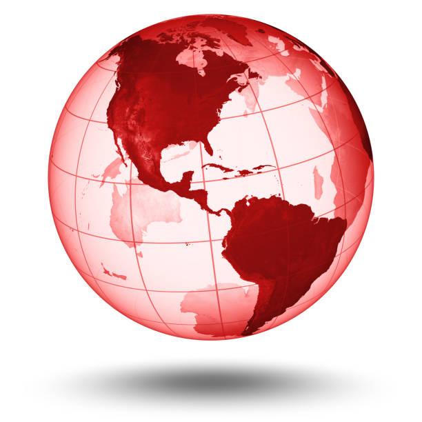 Red Globus mit westlichen Hemisphäre – Foto