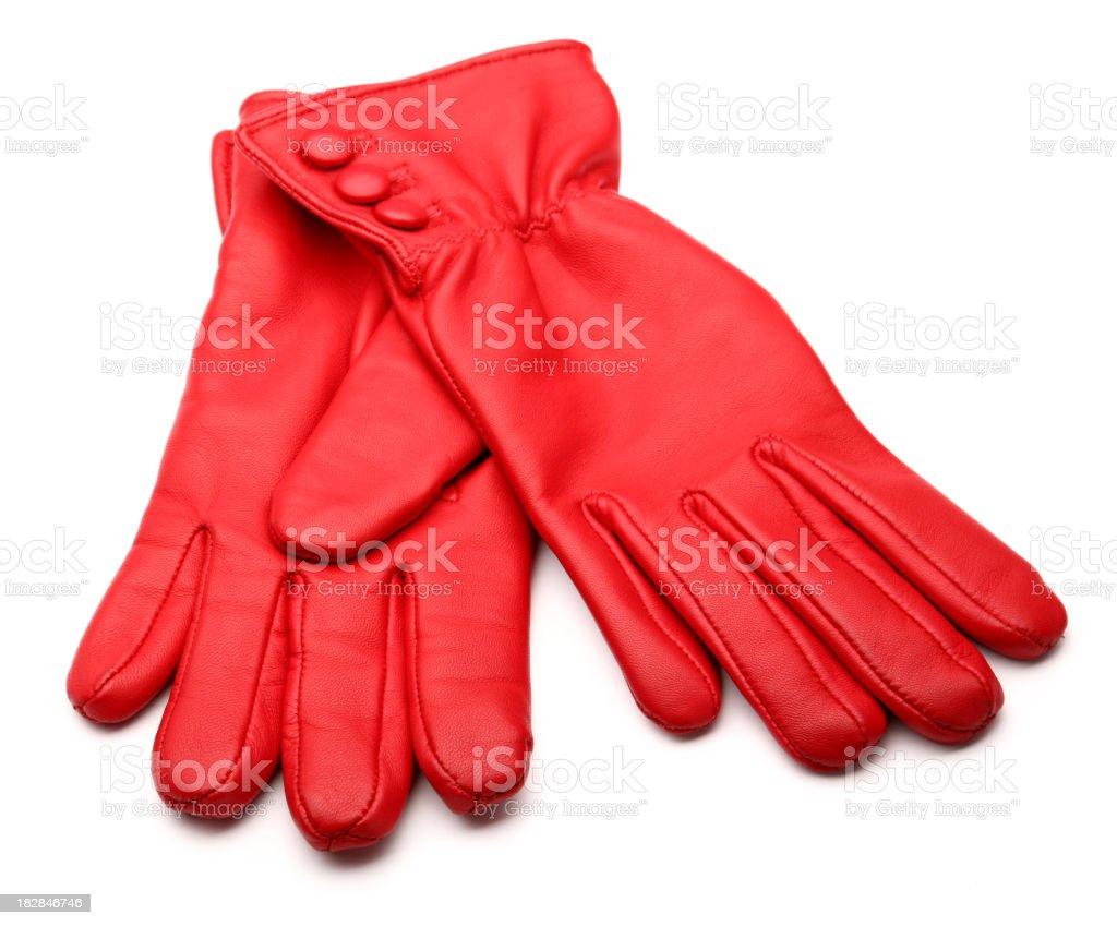 red glove stock photo