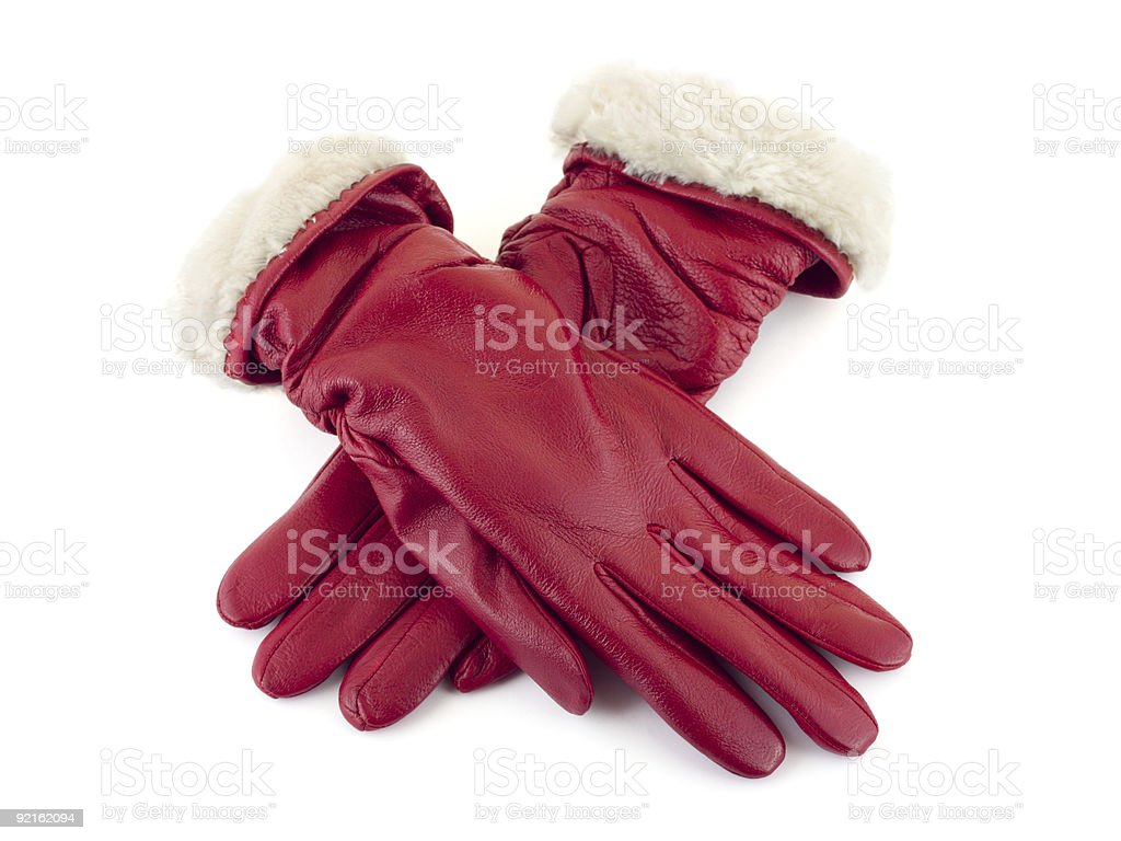 Red gloves royalty-free stock photo