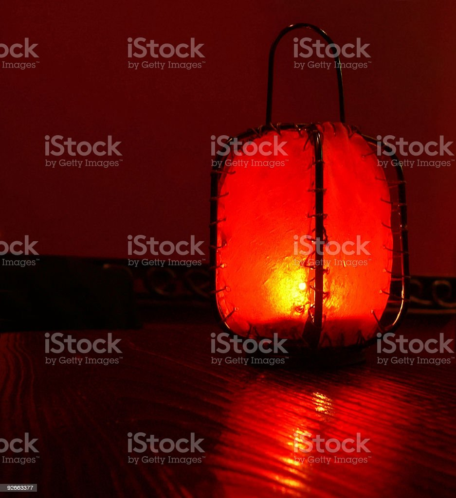 Red glowing Chinese table Lantern royalty-free stock photo
