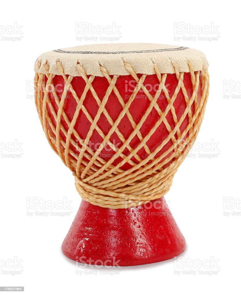 Red goblet drum stock photo