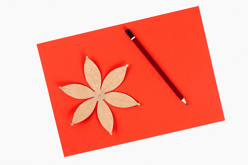Red Gold Handmade Diy Chinese Lantern On White Background Gift Ideas Concept Chinese New Year Sky Lantern Step By Step Process Crafts Top View Stock Photo Download Image Now Istock