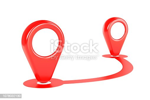 1151956281 istock photo Red GPS map path and two pointers 1078032130