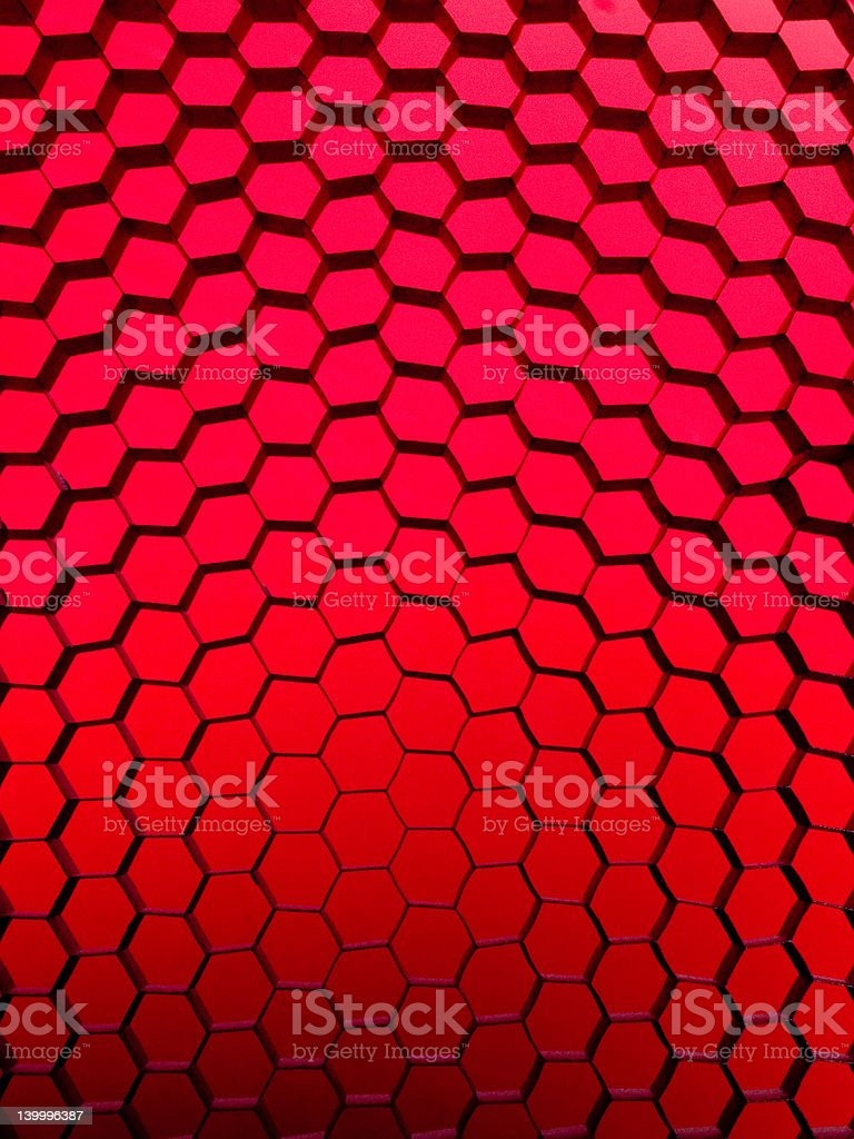 Red Gradient Honeycomb Grid stock photo