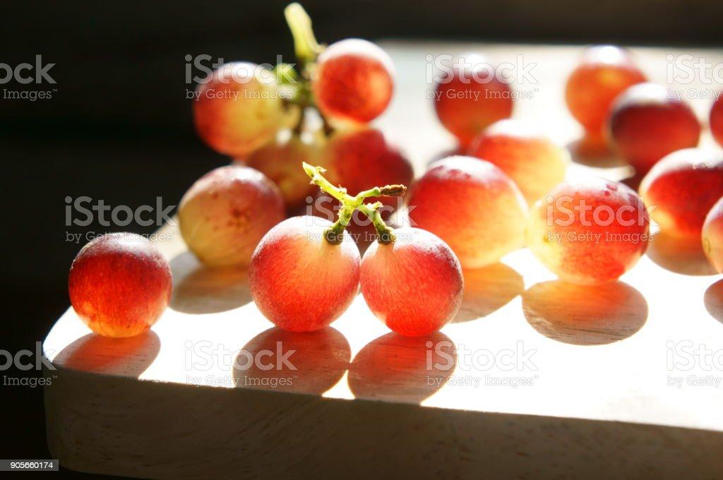 Red grape stock photo