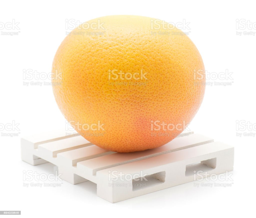 Red grapefruit isolated stock photo
