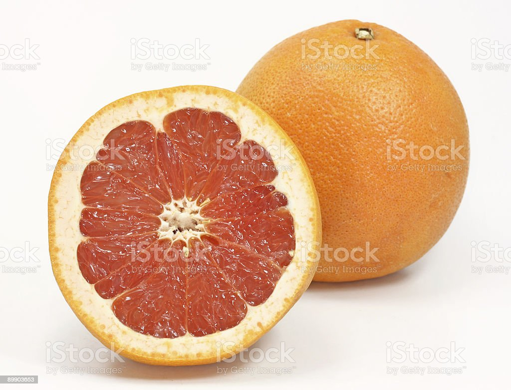Red grapefruits royalty-free stock photo