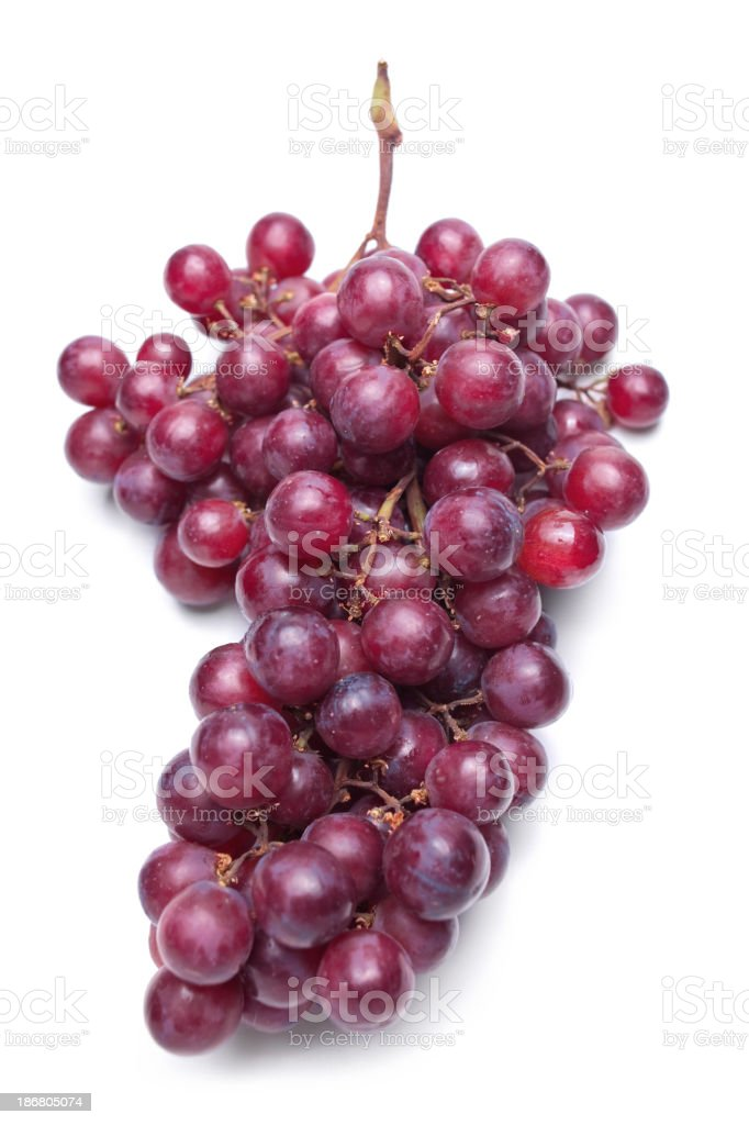 Red grapes isolated on a white background stock photo