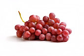 Grapes icon, vector fruit illustration, nature wine, isolated on white