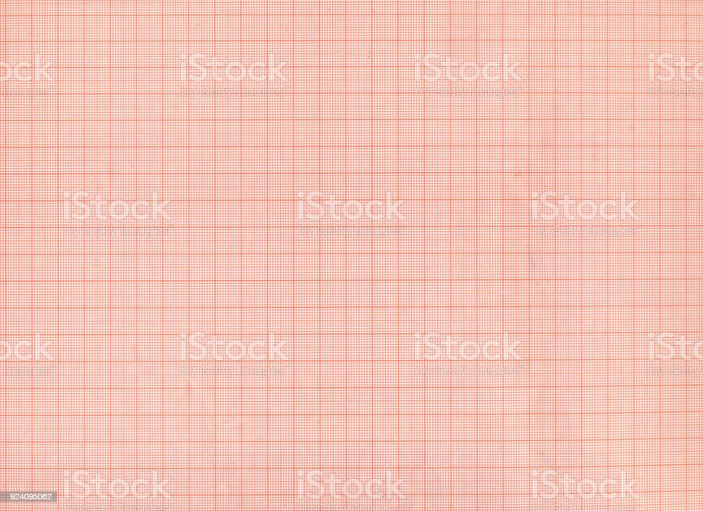 Red graph paper texture – zdjęcie