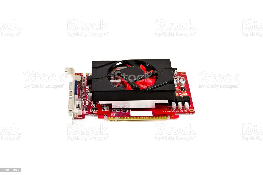 Red Graphic Card stock photo