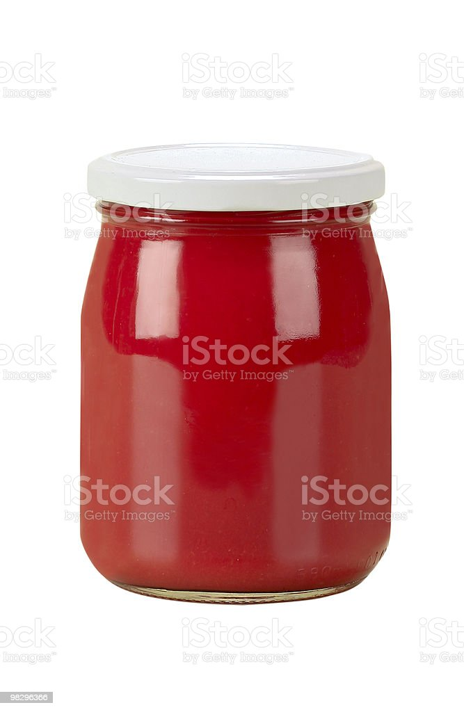 red gravy in jar royalty-free stock photo