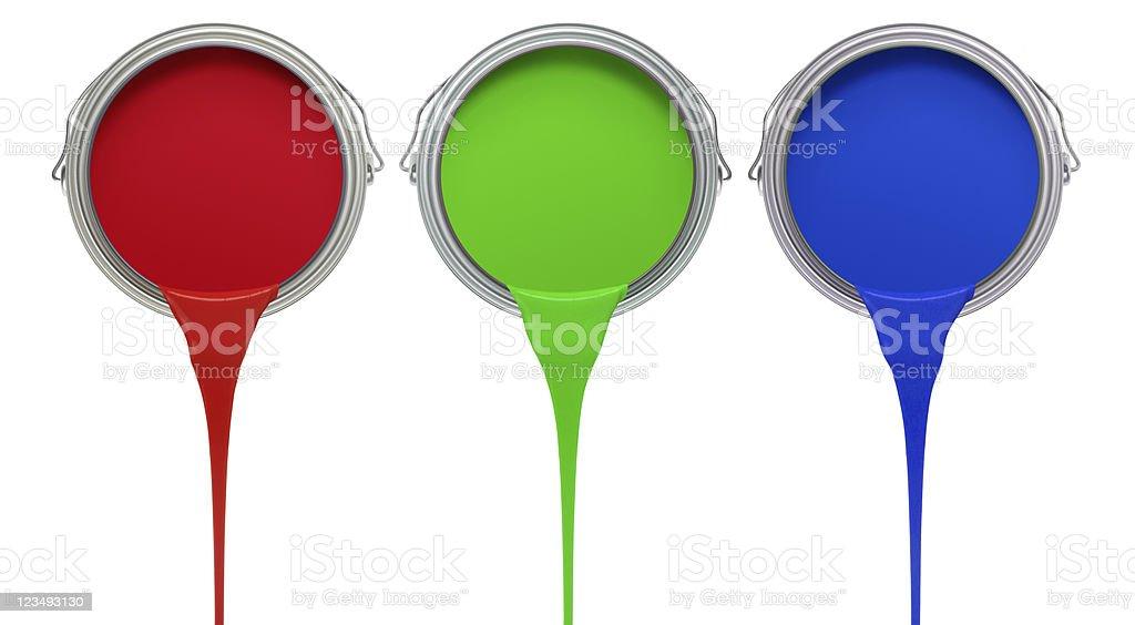 Vermelho verde tinta azul escorrendo de pode XXL - foto de acervo