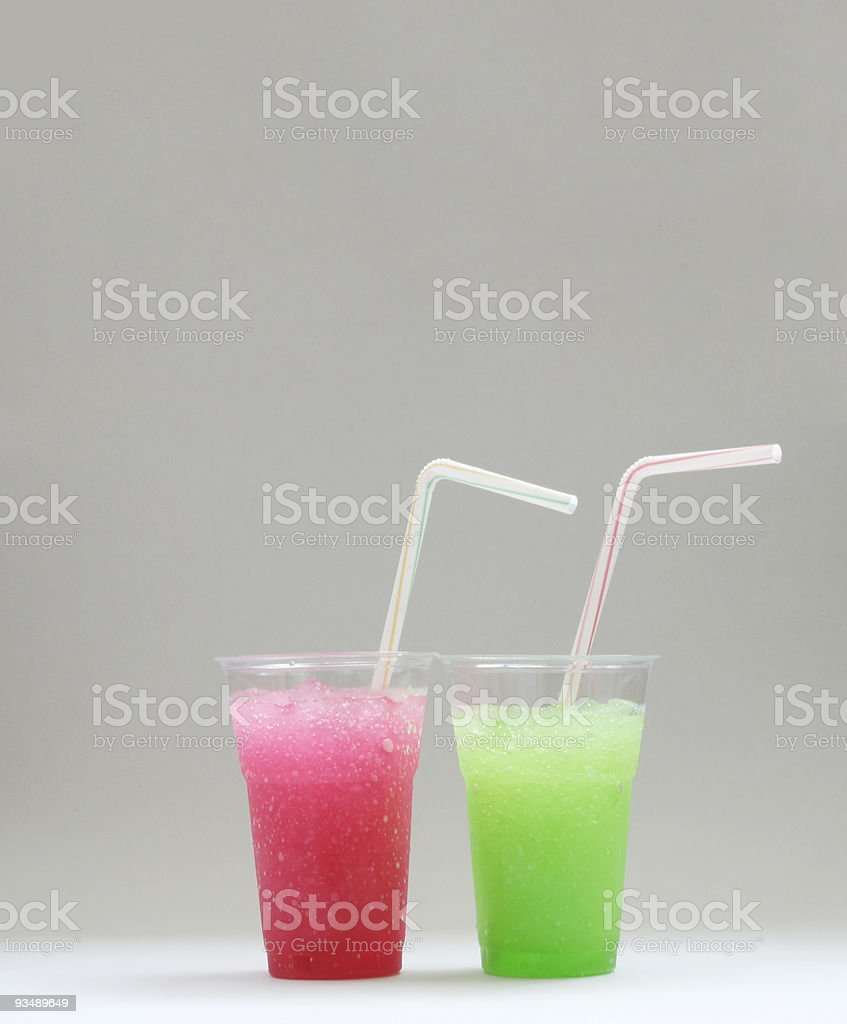 Red & Green Granita Juice royalty-free stock photo