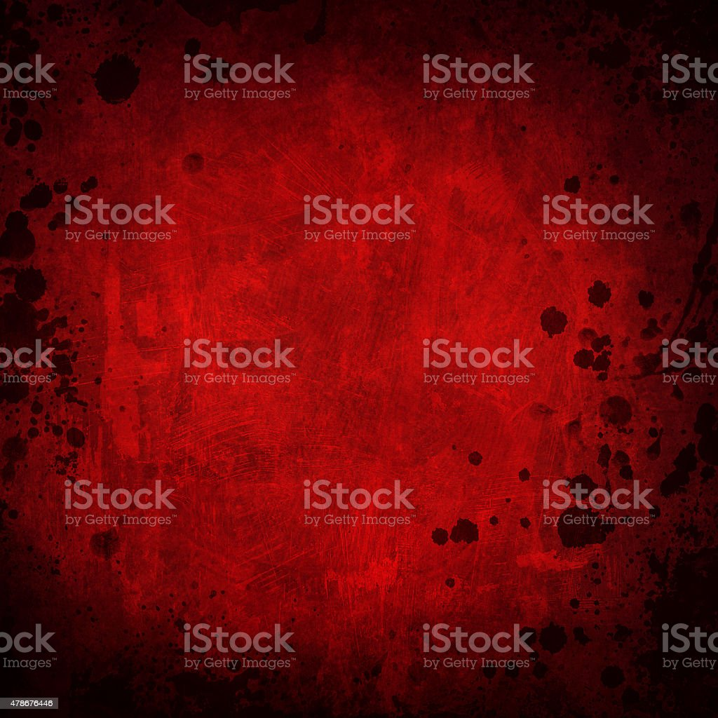 red grunge background with splatters stock photo