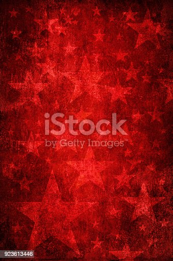Damaged red star background