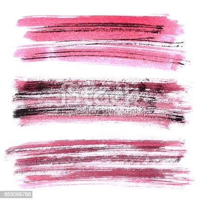 istock Red grunge brush stroke 655066766