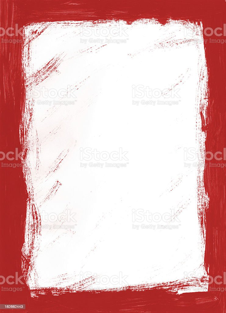 red grunge frame royalty-free stock photo