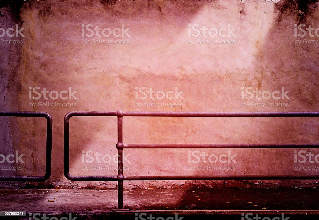 red grunge wall and light for background stock photo