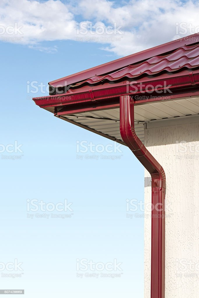 Red gutter stock photo