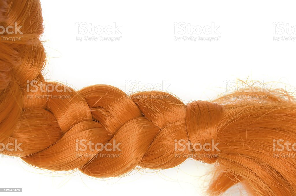 Red hair as Pippi Longstocking stock photo