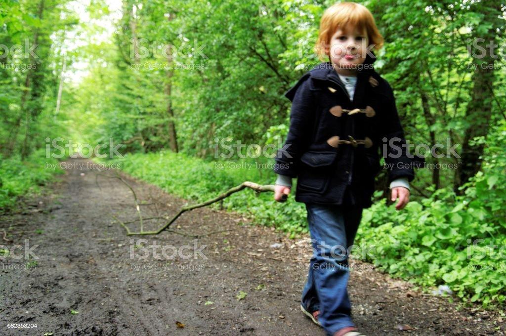 Red hair boy zbiór zdjęć royalty-free
