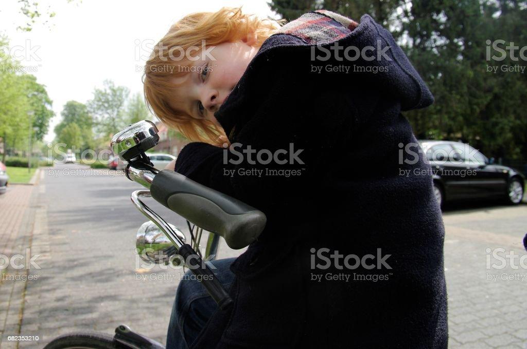 Red hair boy foto stock royalty-free