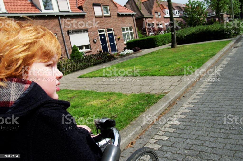 Red hair boy royalty free stockfoto
