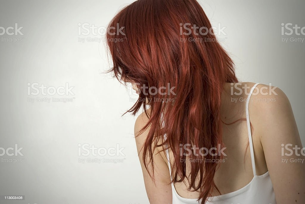 red hair girl stock photo