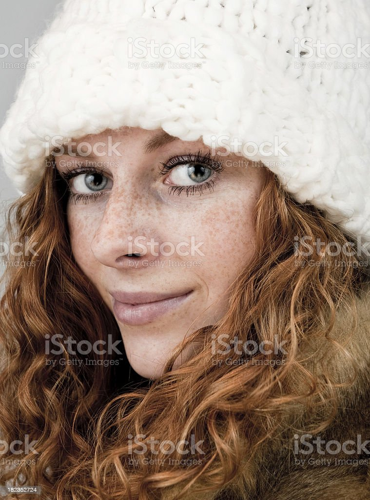 Red hair girl royalty-free stock photo