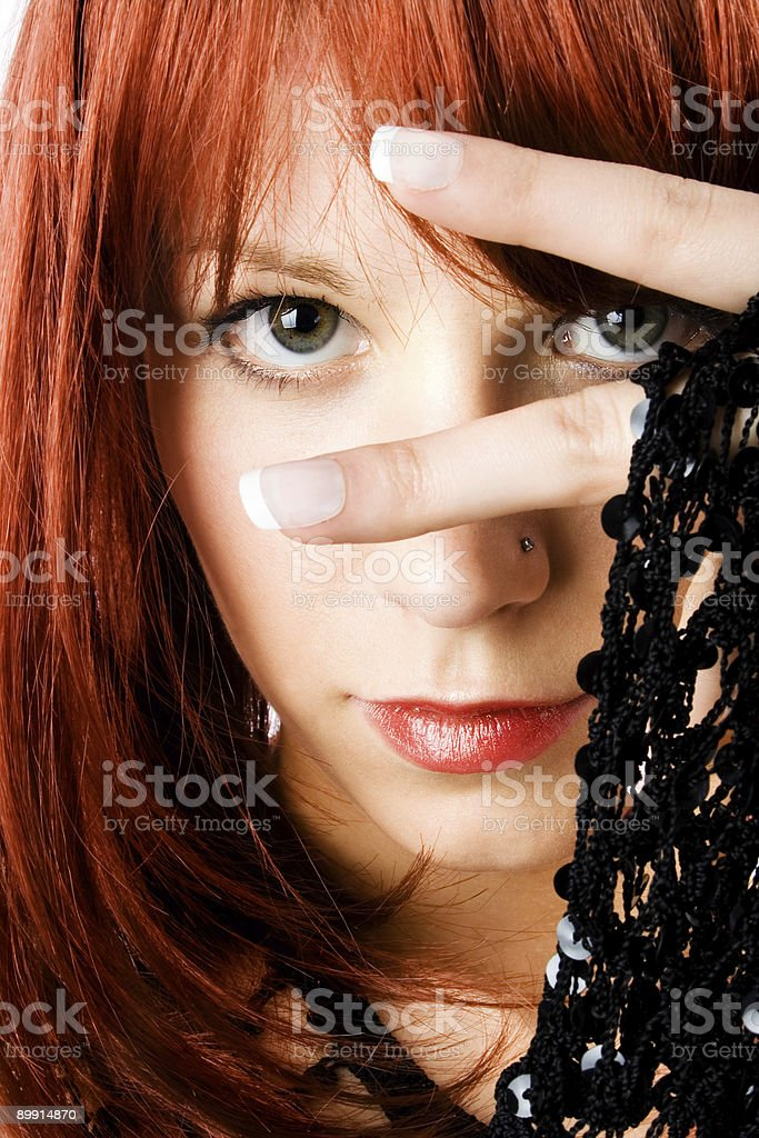 red hair portrait royalty-free stock photo