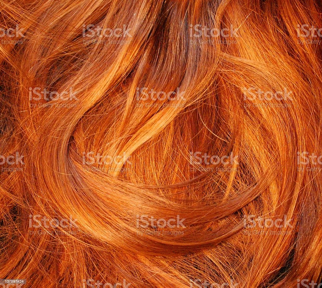 Red hair texture stock photo
