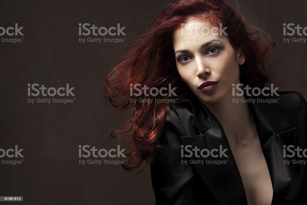 Femme Cheveux rouge photo libre de droits