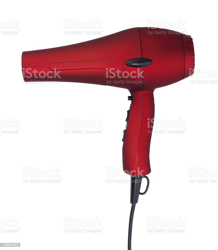 Red hairdryer stock photo