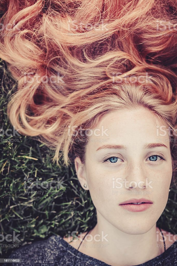 Red Haired Adolescence royalty-free stock photo