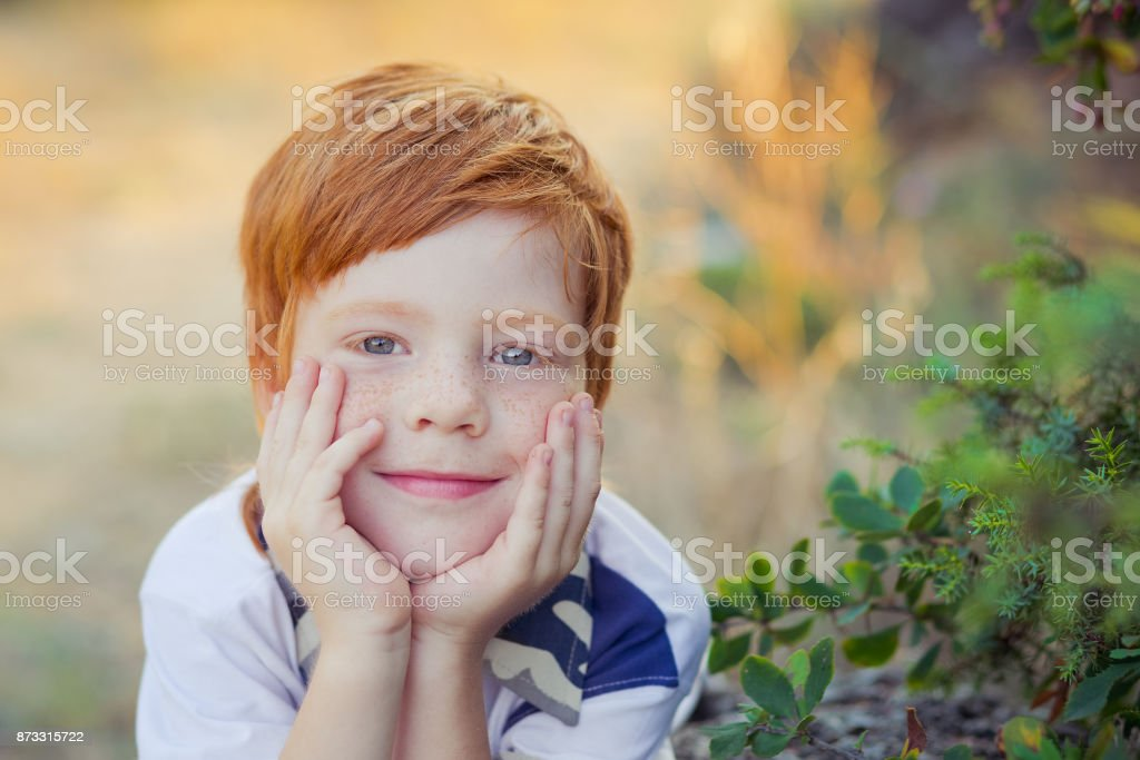 Red Haired Boy With Horse Stock Photo Download Image Now Istock