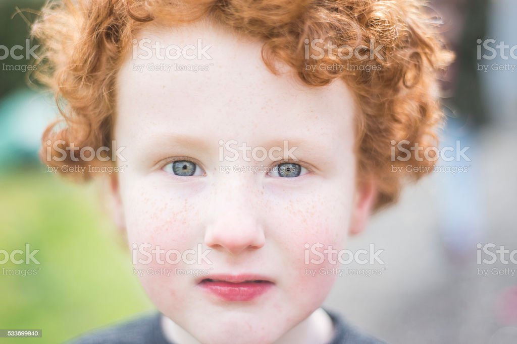 red haired Irish boy royalty-free stock photo