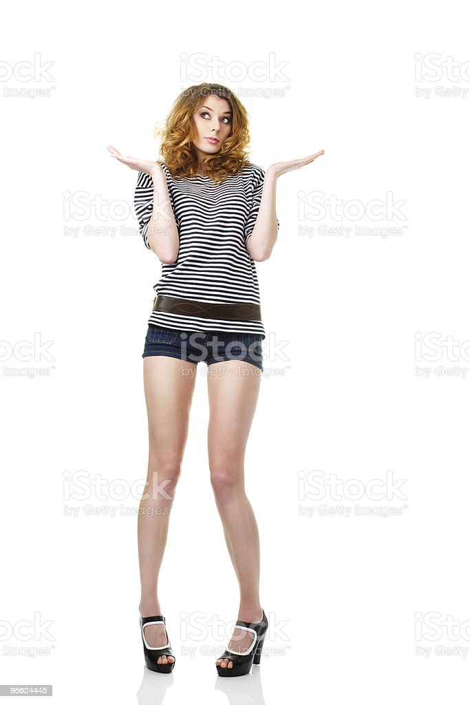 Red haired sailor girl royalty-free stock photo