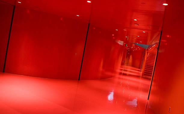 Red Hallway stock photo