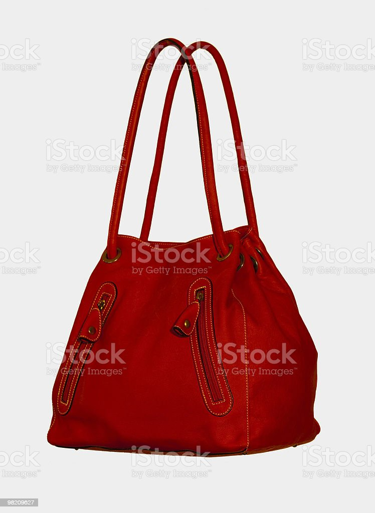 Red Handbag on White royalty-free stock photo