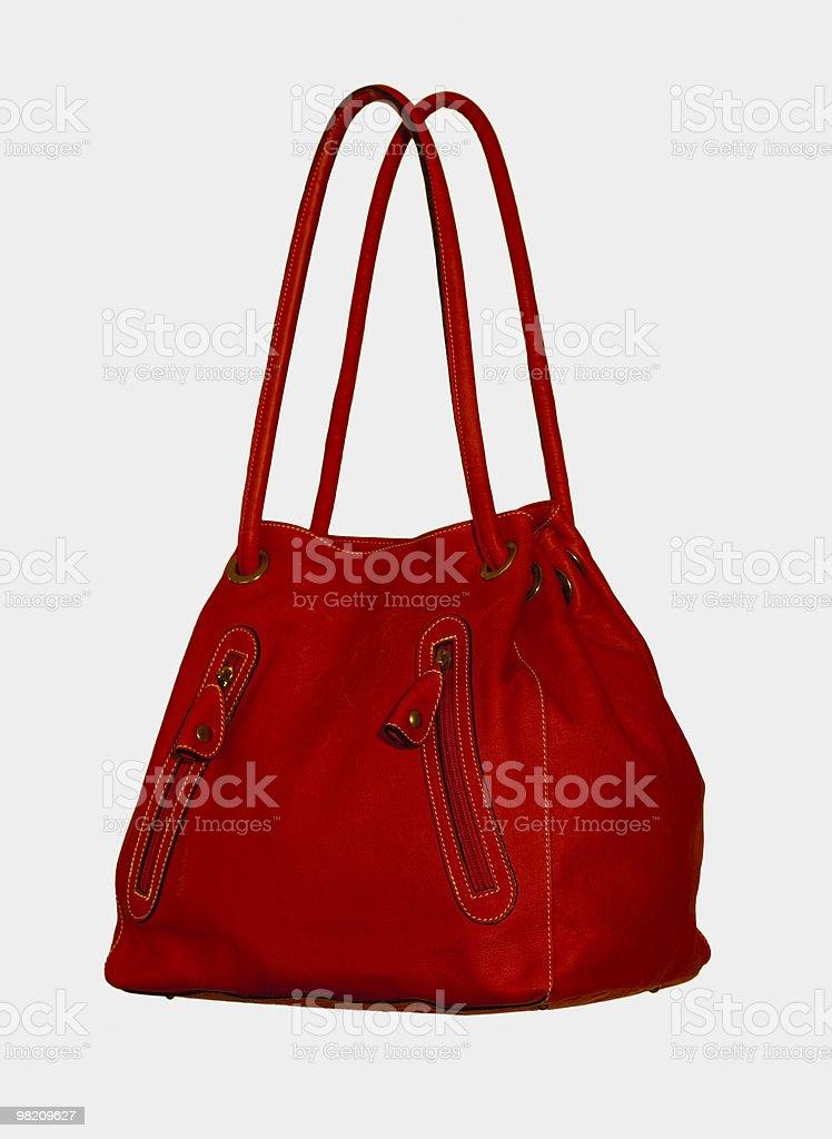 Red Handbag on White stock photo