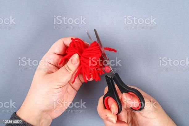 Red handmade diy monster pom pom from yarn chenille stems in shape picture id1093610522?b=1&k=6&m=1093610522&s=612x612&h=67bsjq14ea1wscajmacse2wwpicuclbibqnz0kcbztu=