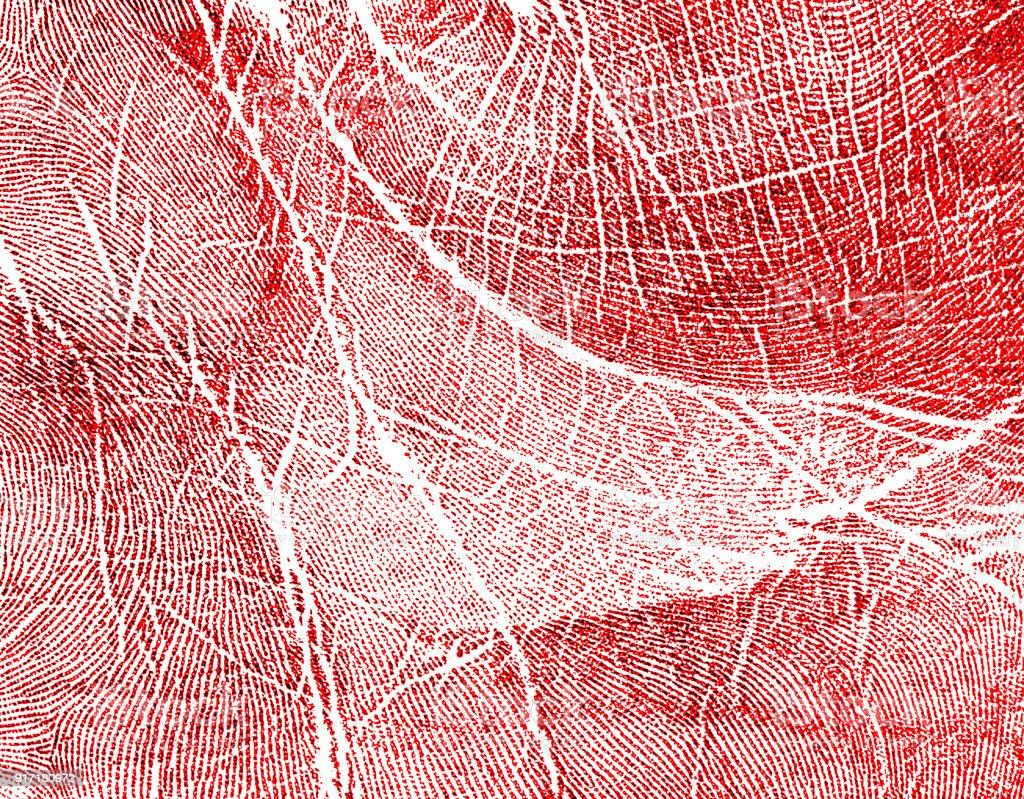Impressão da mão vermelha, como plano de fundo - foto de acervo