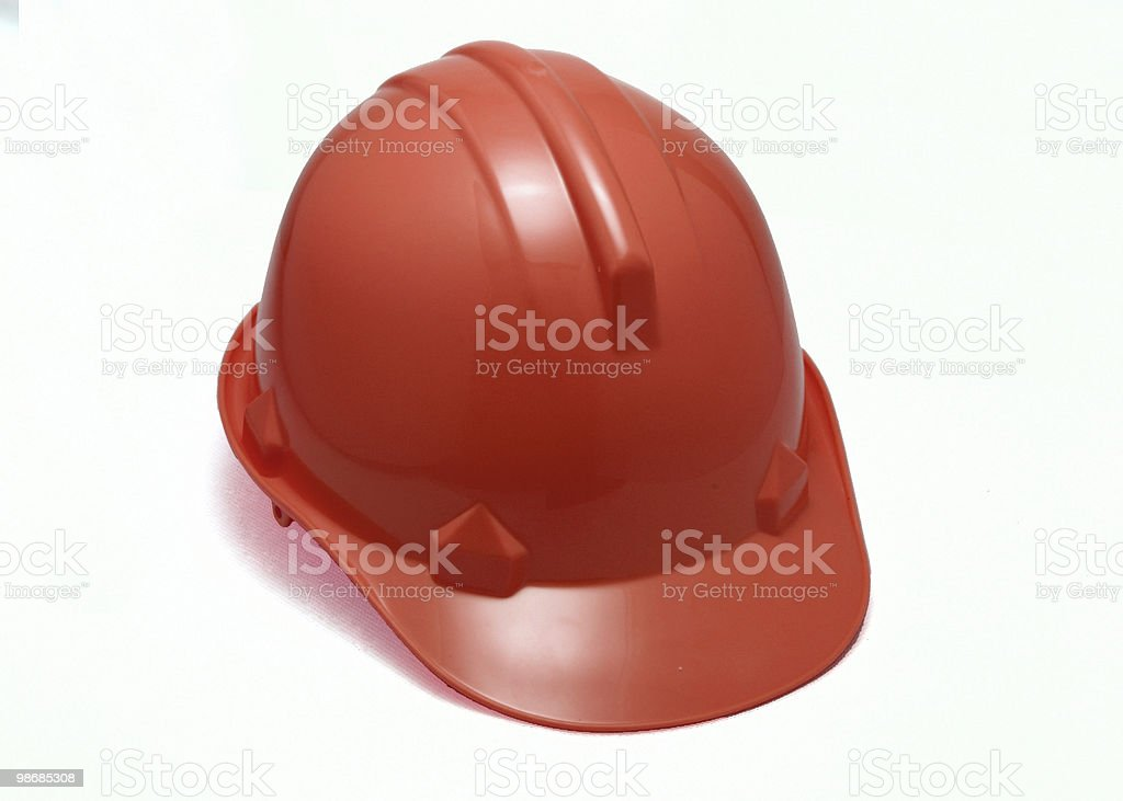red hard hat royalty-free stock photo