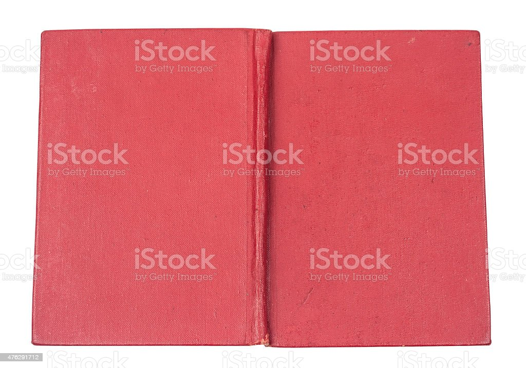 Red hardcover book stock photo