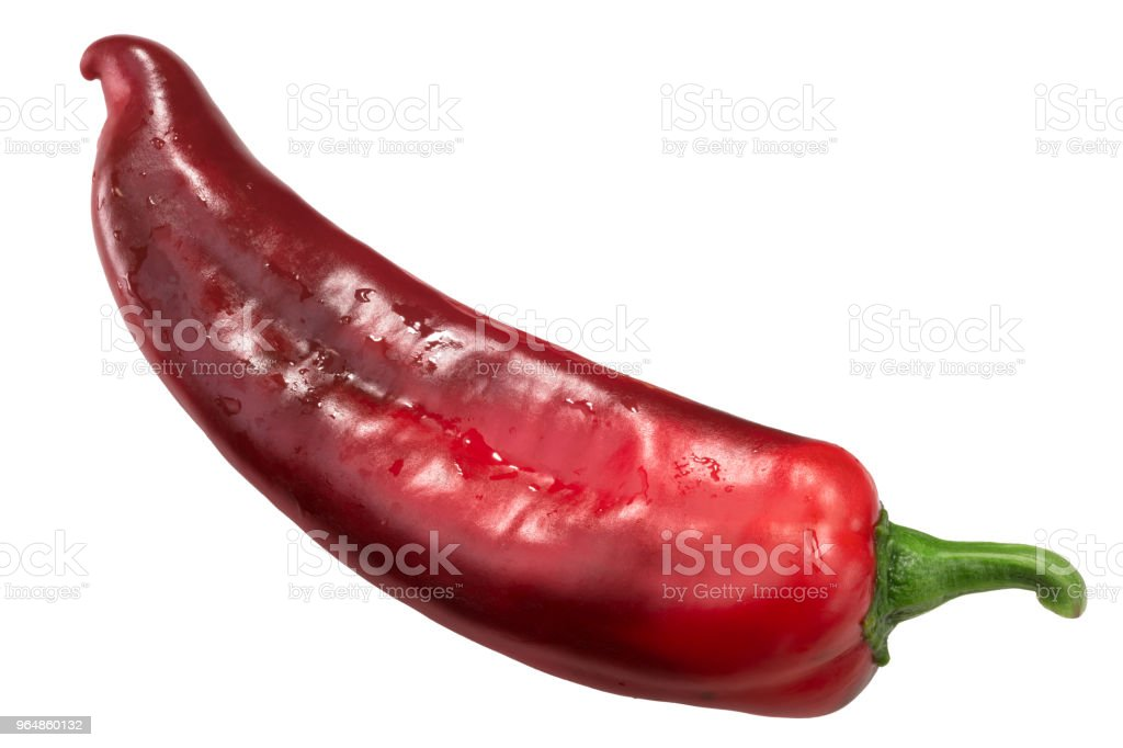Red Hatch chile whole, top view royalty-free stock photo