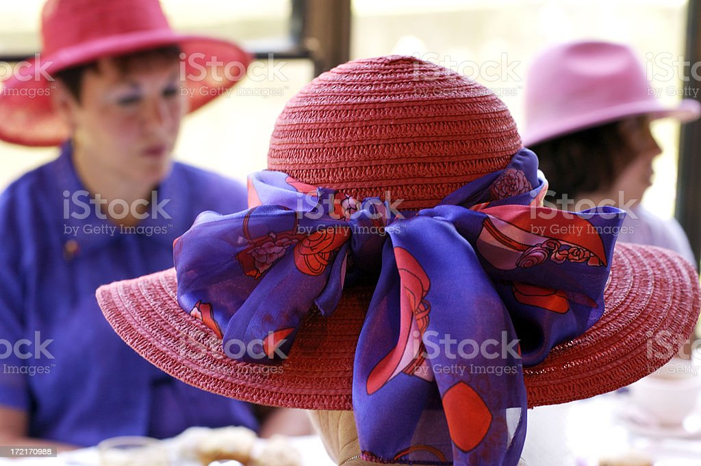 Red Hats stock photo