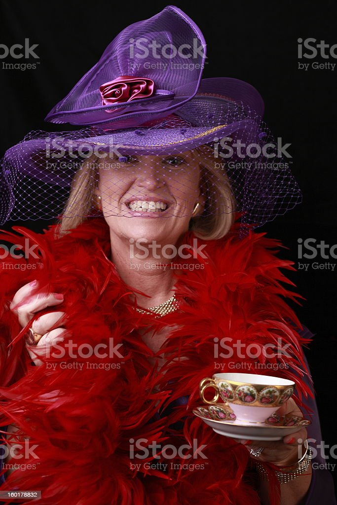 Red Hatter stock photo