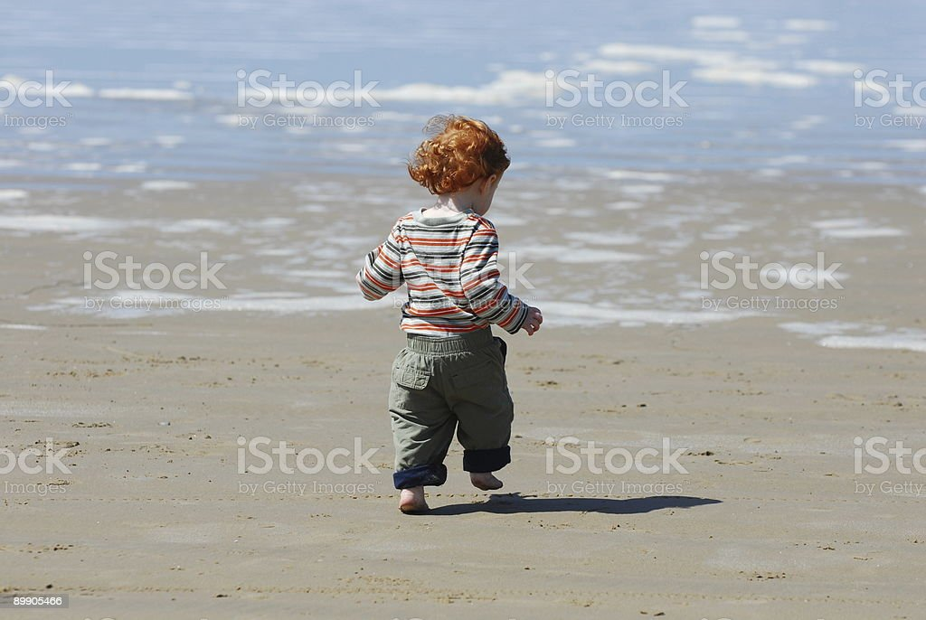 Red Head Runnng royalty-free stock photo