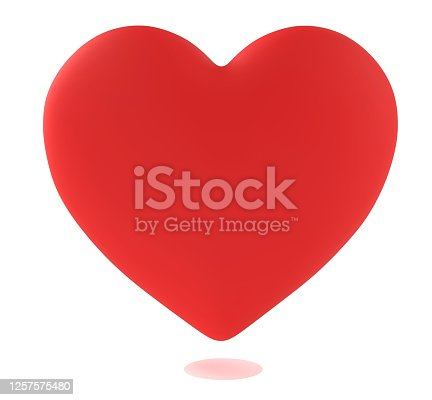 heart, isolated on white background, 3d rendering